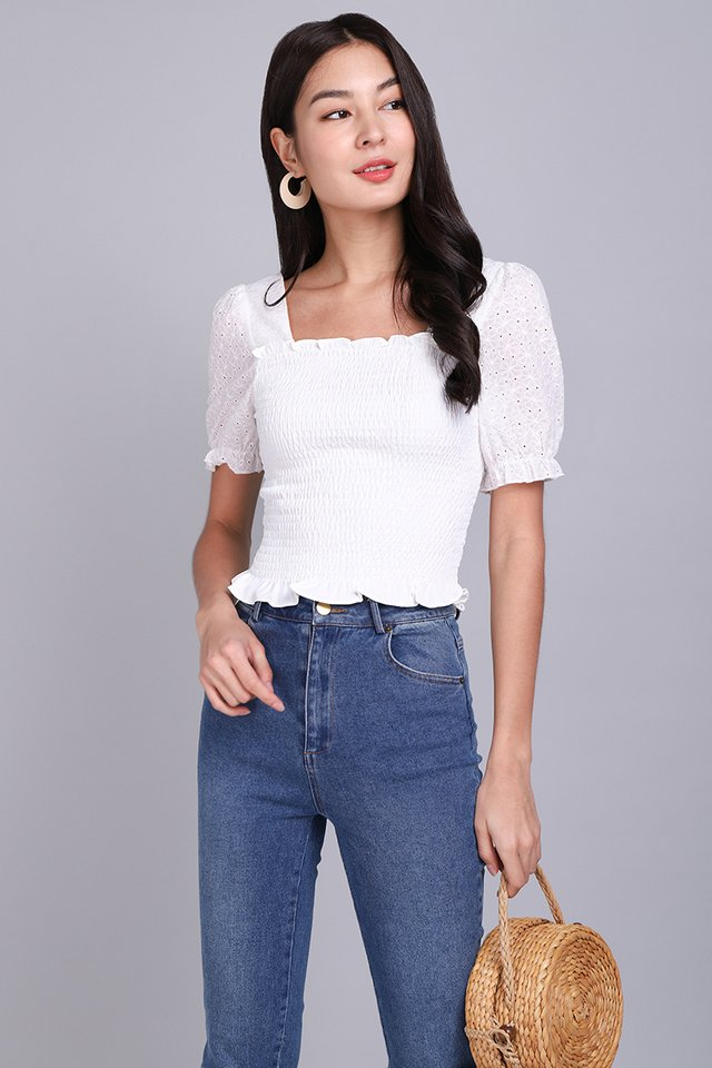 Love Debut Top In Classic White