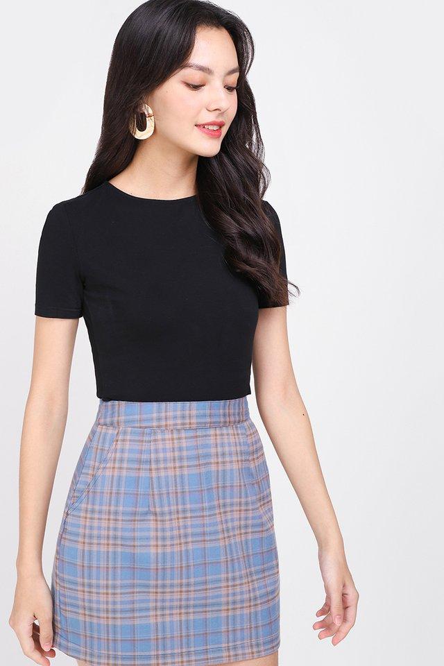 Manhattan Guide Skirt In Blue Plaid