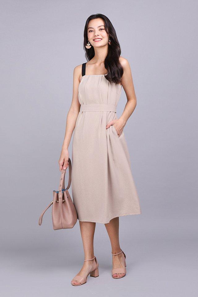 Perfectly Crafted Dress In Ecru