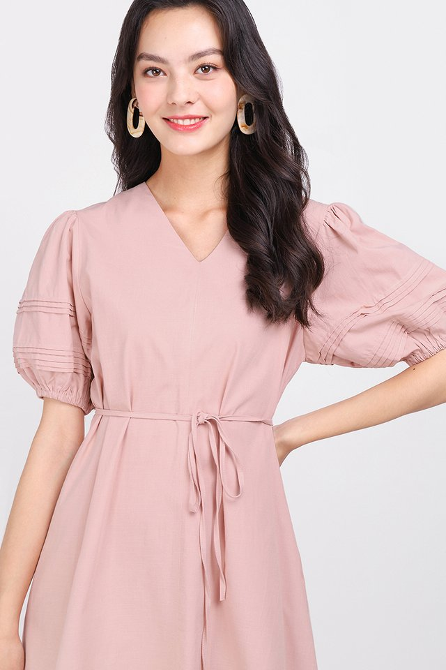 Gift Of Love Dress In Soft Pink