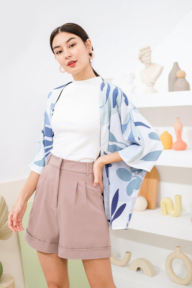 Spring Dreams Kimono In Blue Prints