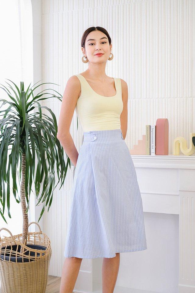 Soak Up The Sun Skirt In Blue Stripes