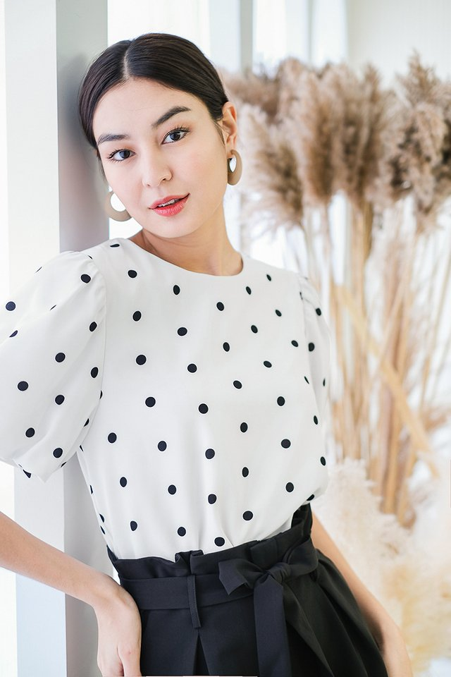 Maia Top In White Dots