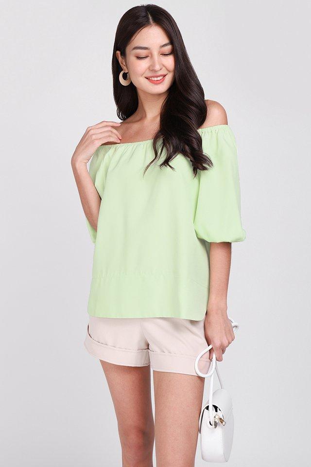 Dress For Joy Top In Apple Green