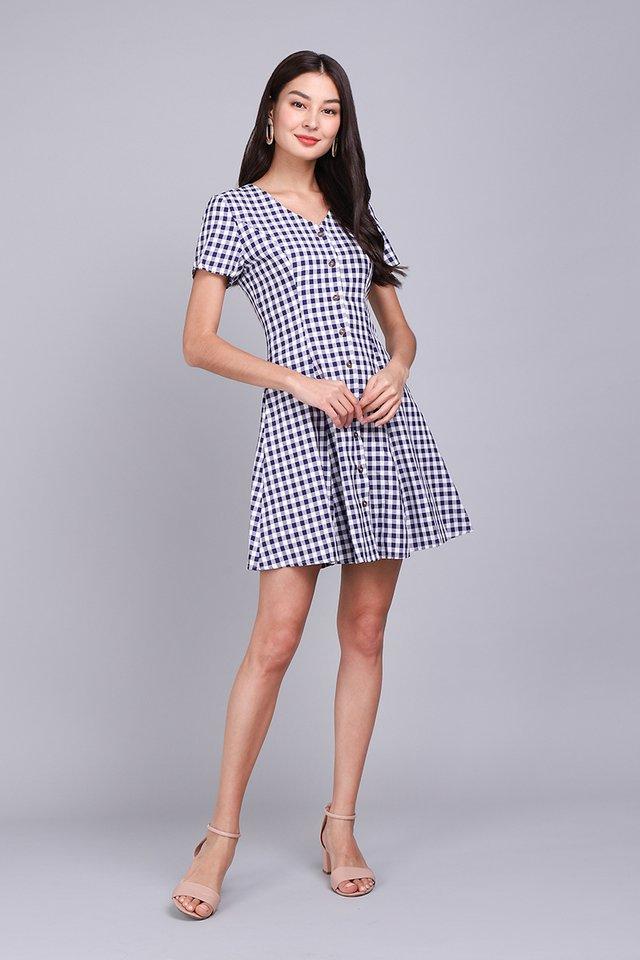 Little Italy Dress In Blue Checks