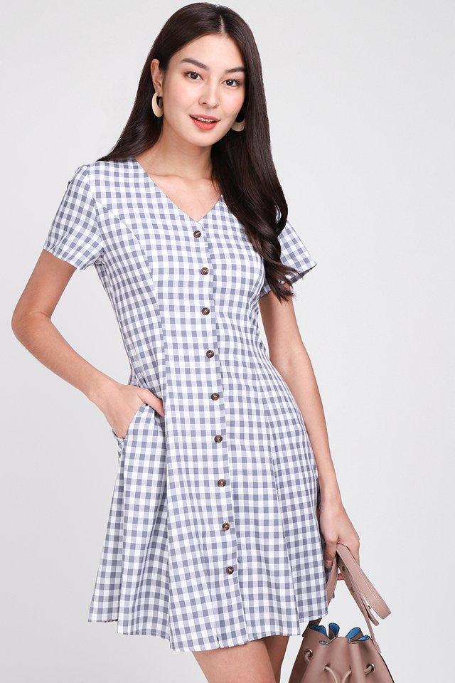 Little Italy Dress In Grey Checks