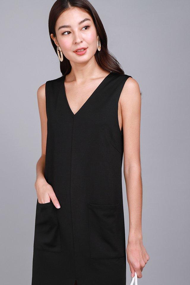 Everyday Minimalist Dress In Classic Black
