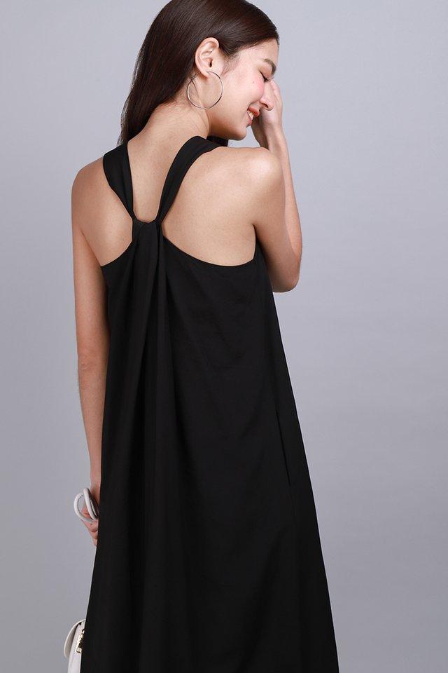 Twist Of Bliss Dress In Classic Black