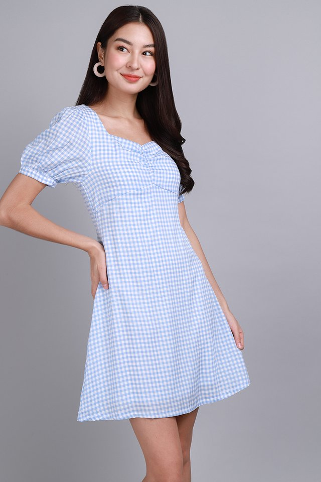 A Walk To Remember Dress In Sky Gingham