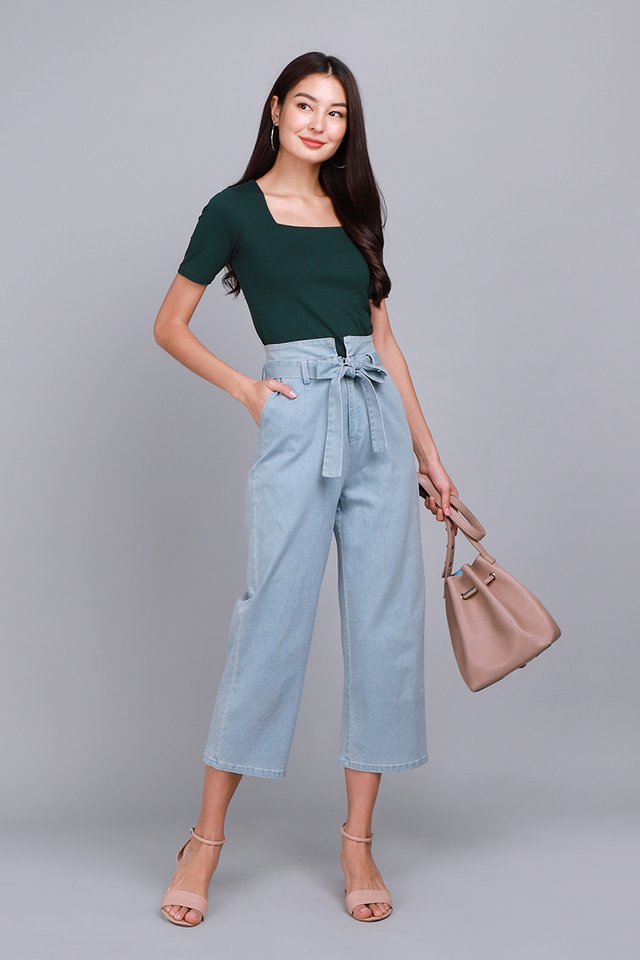 Carrie Top In Forest Green