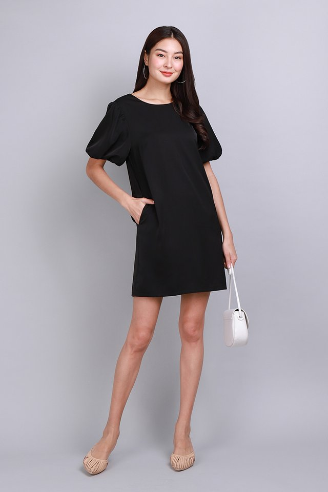 Perfectly Poised Dress In Classic Black
