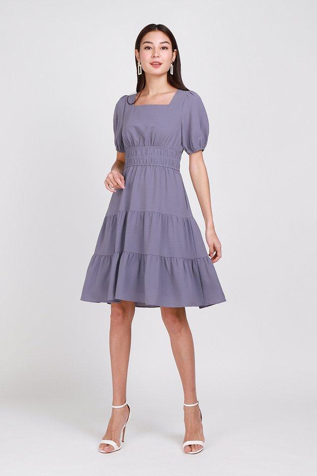 An Eternal Romance Dress In Dusty Periwinkle