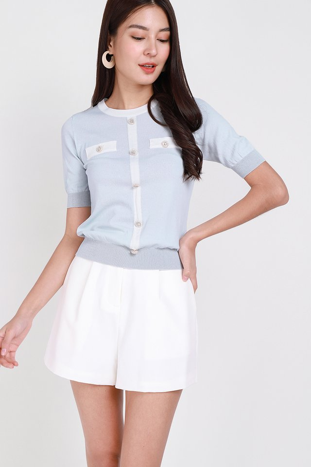 Sparkling Moment Top In Sky Blue