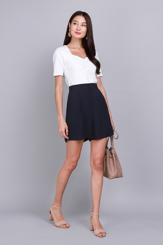 Oxford Shorts In Navy Blue