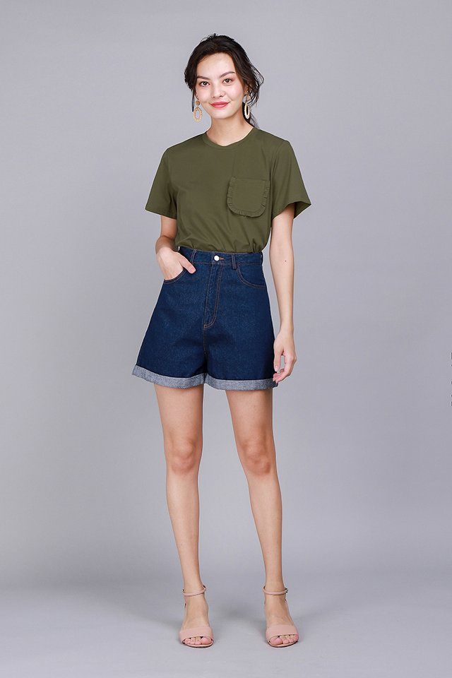 Ashley Top In Olive Green