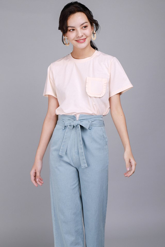 Ashley Top In Peach Pink