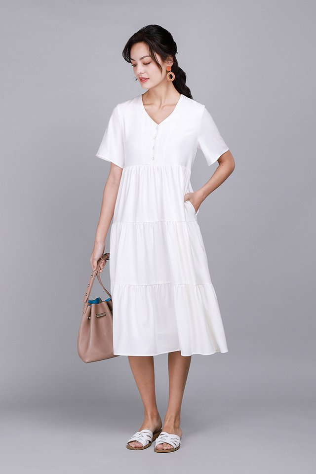 A Dreamy Romance Dress In Classic White