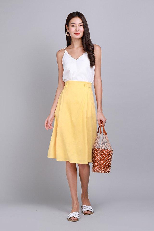 Soak Up The Sun Skirt In Sunshine Yellow