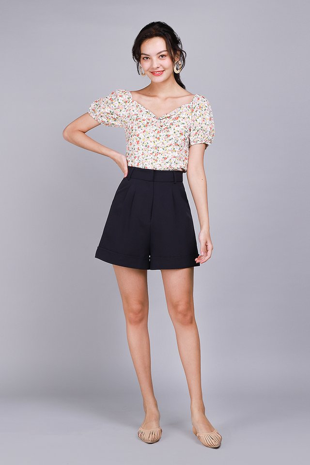 My Dearest Top In Apricot Florals