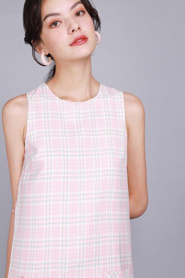 Free Spirited Dress In Pink Checks