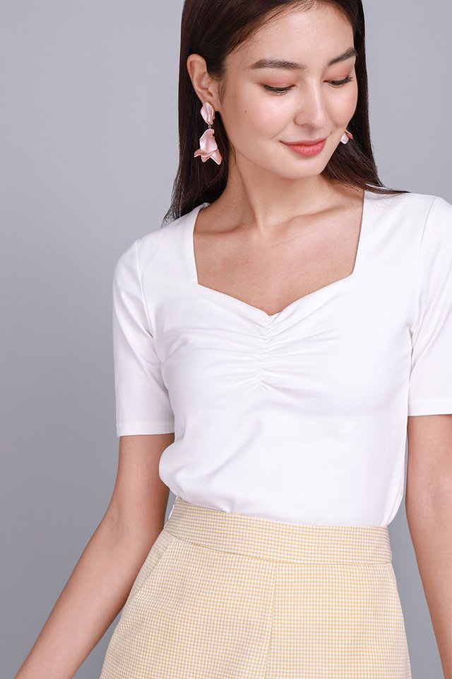 Belle Top In Classic White