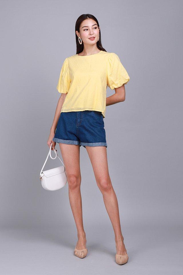 Maia Top In Sunshine Yellow