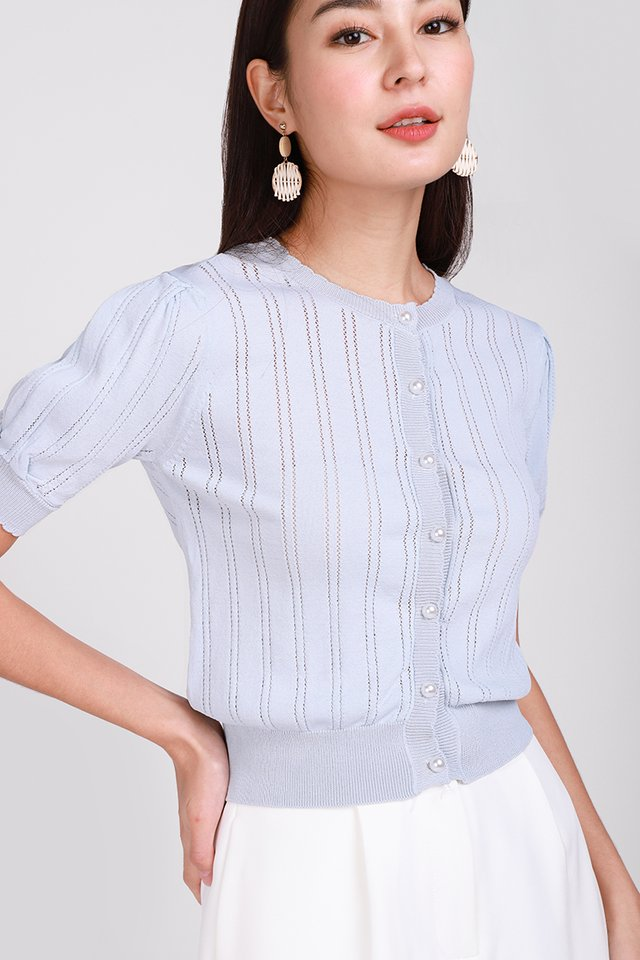 Tender Moments Top In Sky Blue