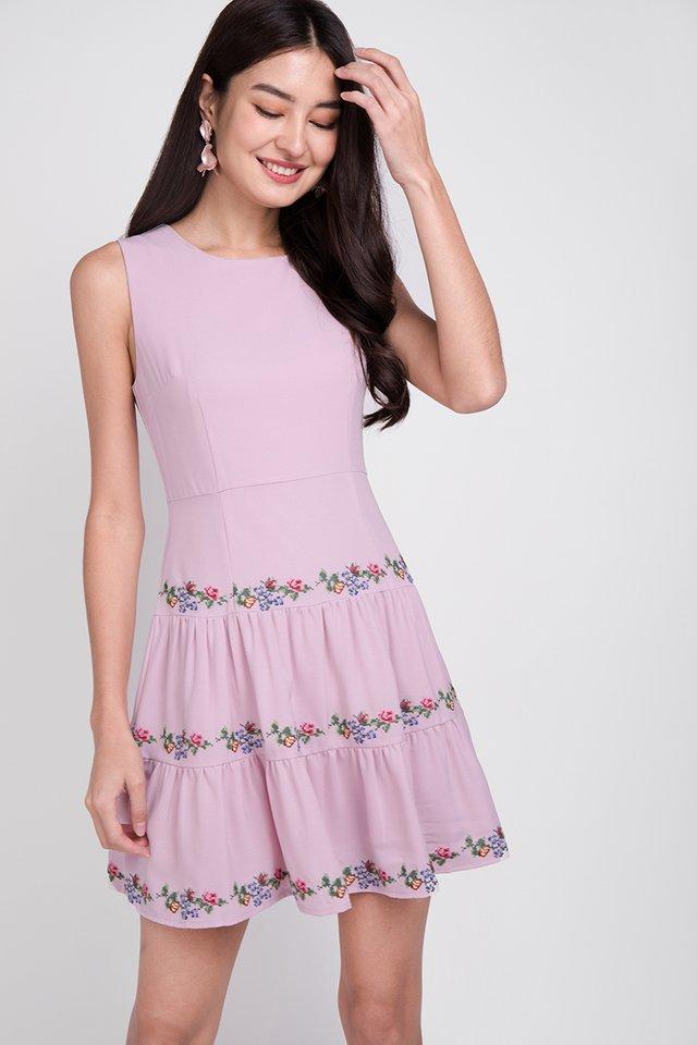 Feminine Charm Dress In Lavender