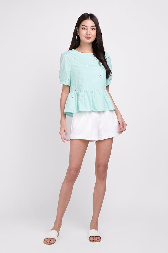Spring Refresh Top In Mint