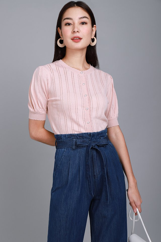 Tender Moments Top In Dusty Pink