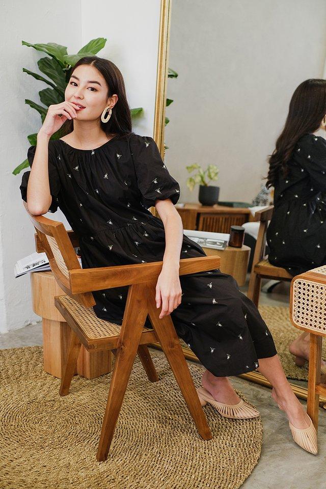 Written In The Stars Dress In Black Florals