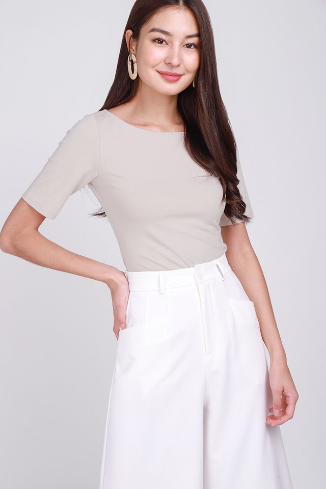 Colette Top In Taupe