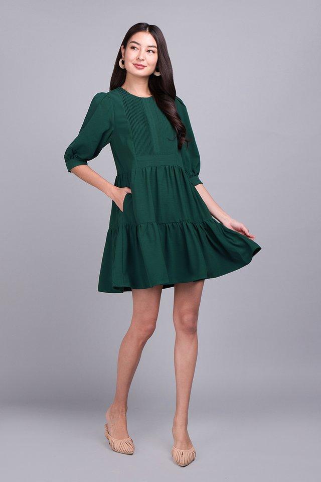 Spirited Away Dress In Forest Green