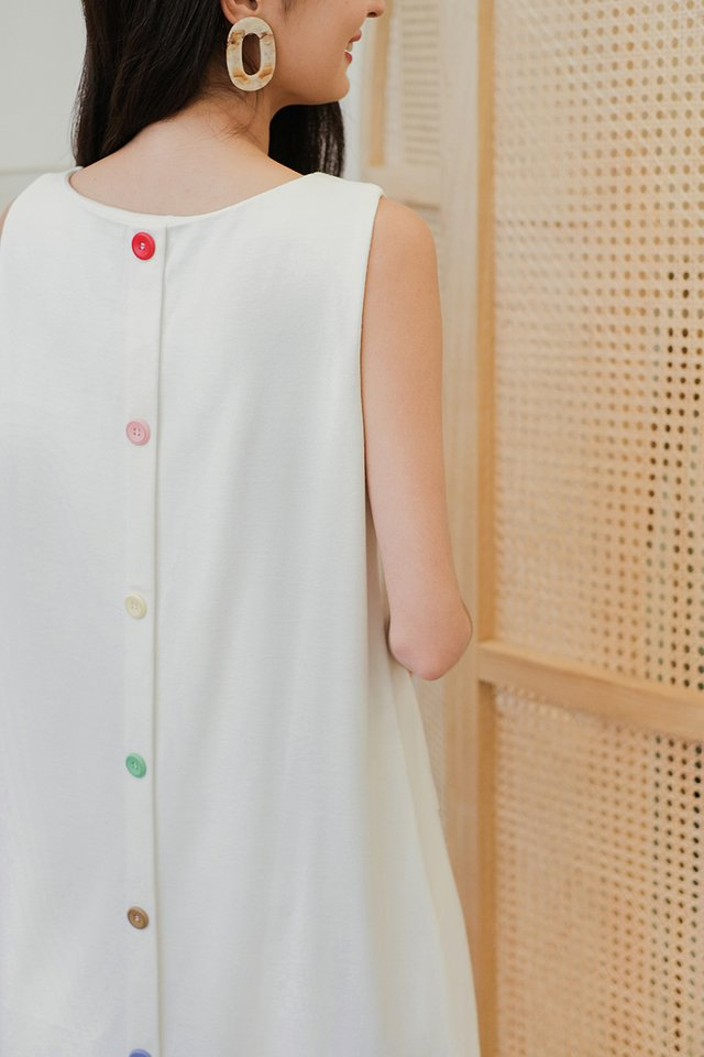 Back In The Loop Dress In Classic White