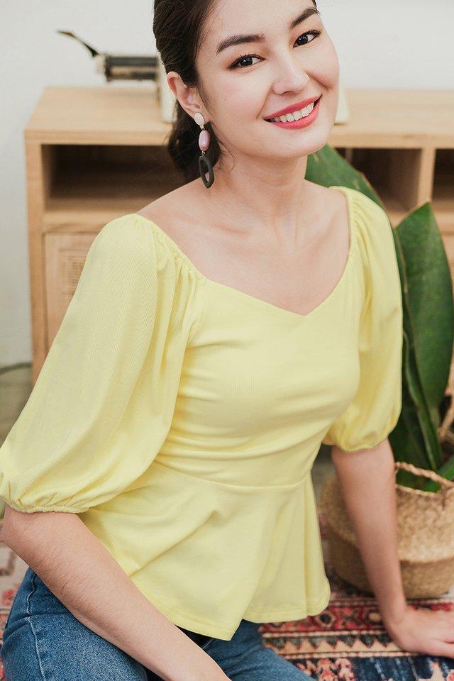 Rebecca Top In Sunshine Yellow