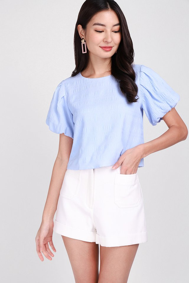 Tranquil Soul Top In Sky Blue