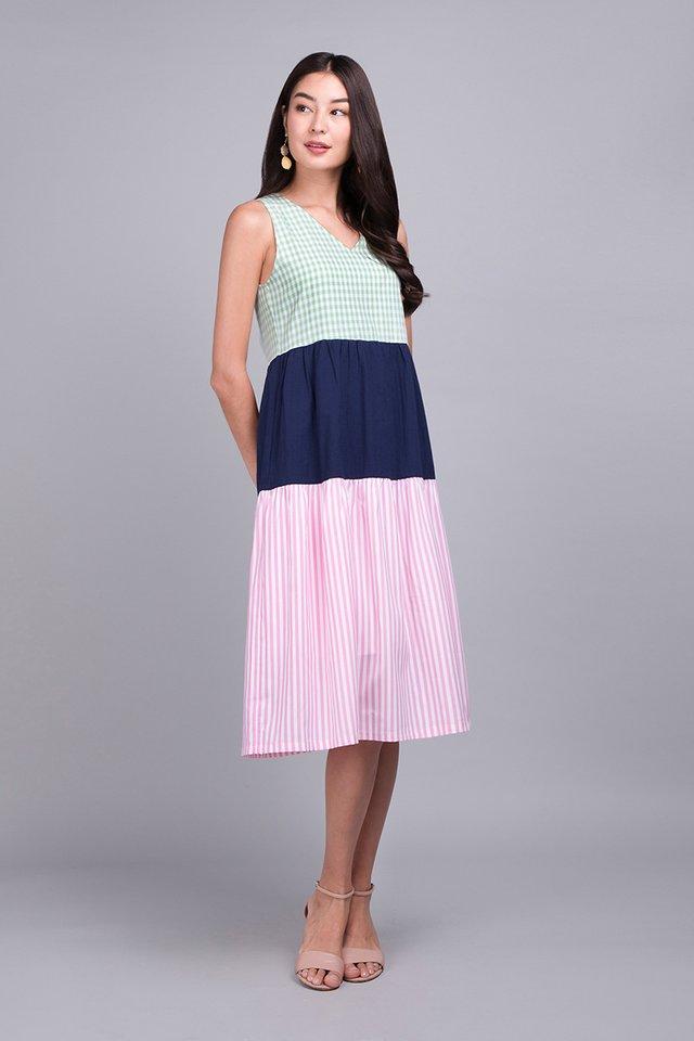 A Pop Of Colour Dress In Multicolour