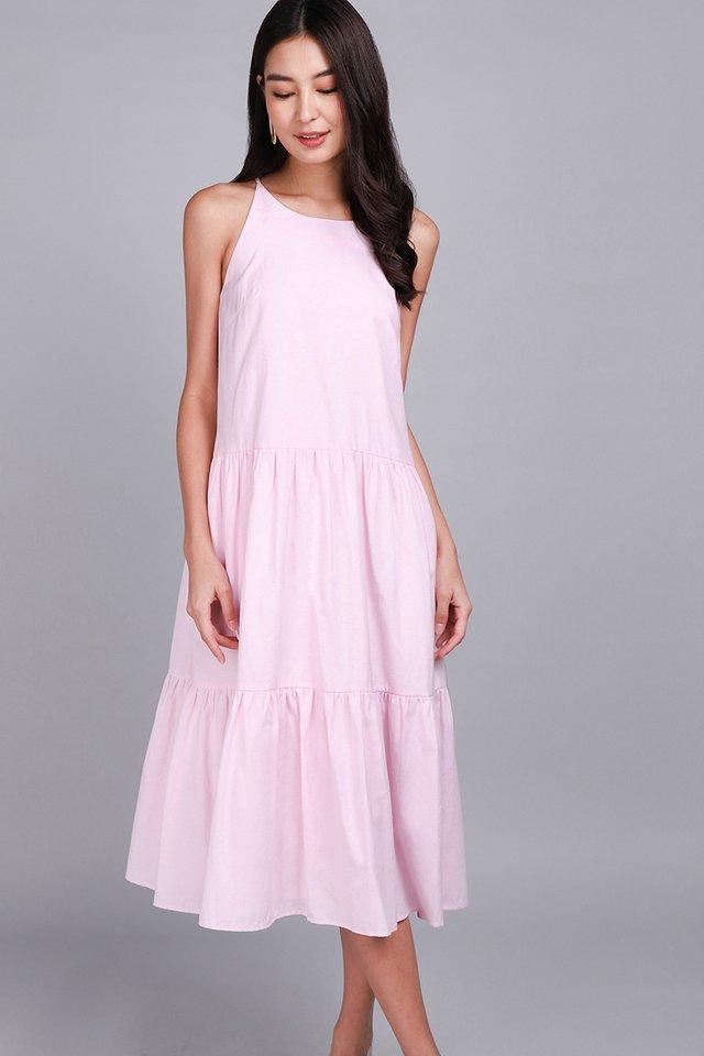 Garden Dance Dress In Soft Pink