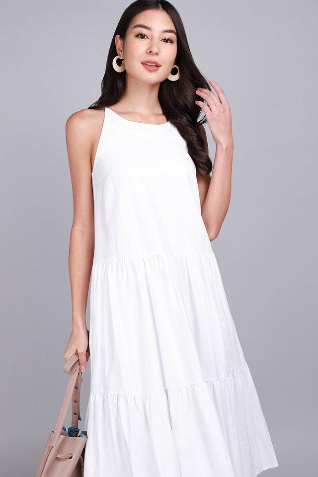 Garden Dance Dress In Classic White