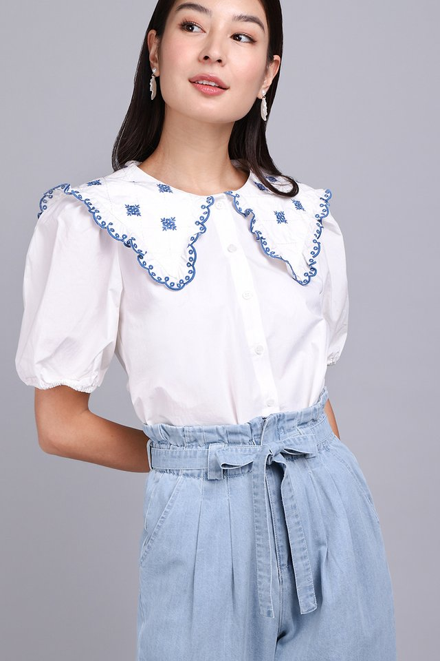 Simply Crafted Top In Classic White