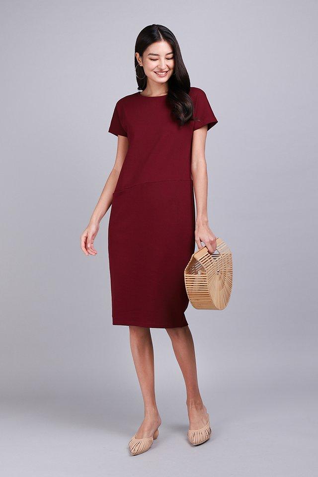 Sidney Dress In Wine Red