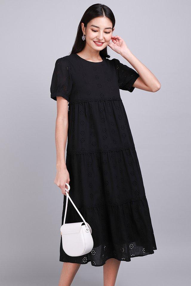 Living A Romance Dress In Classic Black