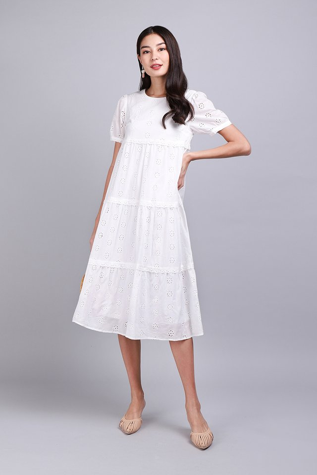 Living A Romance Dress In Classic White