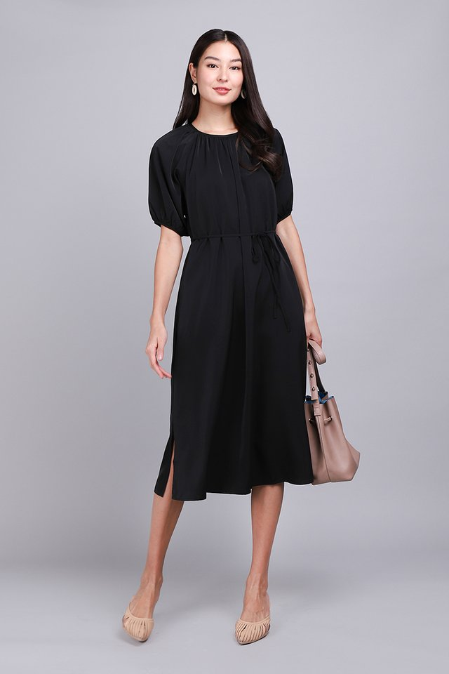 Gentle Disposition Dress In Classic Black