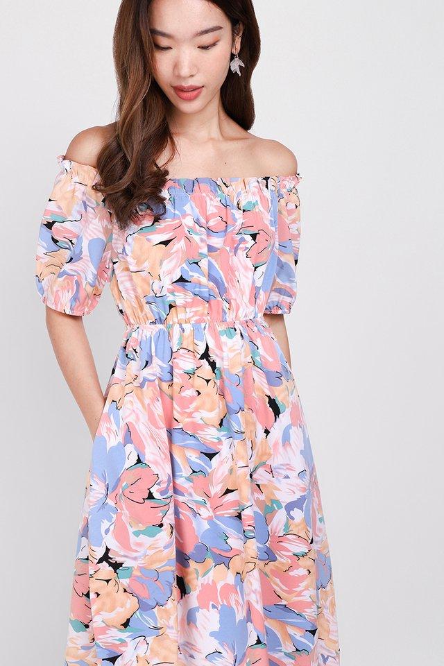 Garden Dreaming Dress In Pink Florals