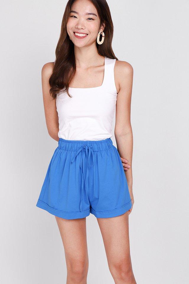 Brie Shorts In Cerulean Blue