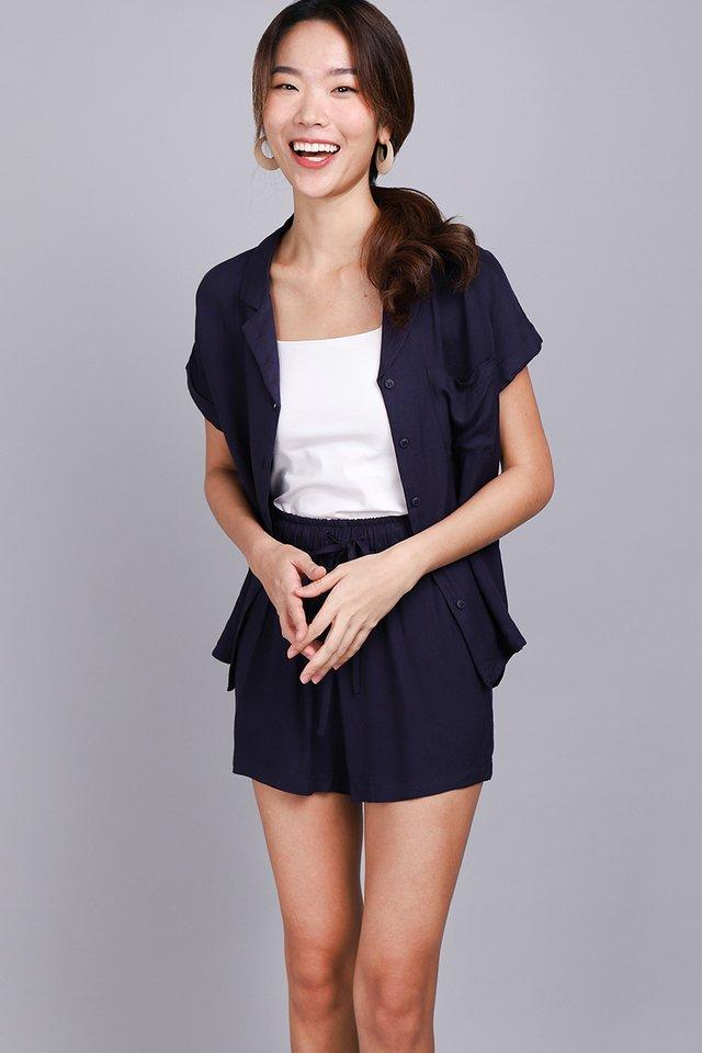 Cassie Shorts In Indigo Blue