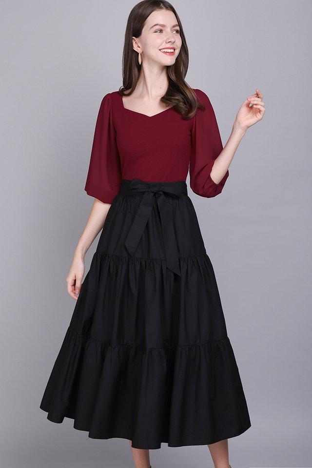 Happy To Swish Skirt In Classic Black